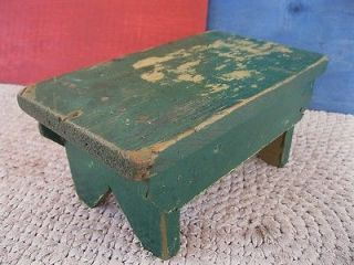 Antique Primitive Country 11 Foot Stool Footstool Bench, Pine Wood