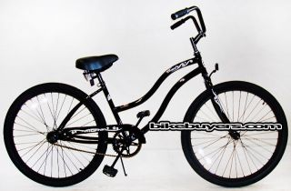 Touch 1 speed Womens 26 Schwinn Style Beach Cruiser Bikes blk
