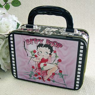 Betty Boop ~ Lunch Box ~ Keepsake Purse Tin Tote ~ Bed of Roses