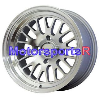 531 Machine Silver Wheels Rims Deep Dish Stance 4x4.5 4x114.3 Honda