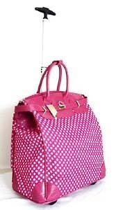 19 Computer/Laptop Bag Tote Duffel Rolling Wheel Padded Case Pink