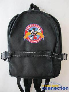 World WDW Pin Trading Mickey Mouse Backpack Display Case Pin Bag