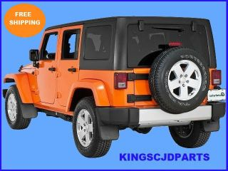 2007   2013 FRONT & REAR JEEP WRANGLER MOLDED SPLASH GUARDS MUD FLAPS