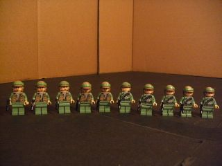 Lot of 10 Lego Star Wars ARMY MAN TROOPERS Minifig Mini Figure Fig 10x
