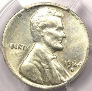 1964 D Lincoln Cent on Silver 10C Planchet   PCGS MS62   Rare