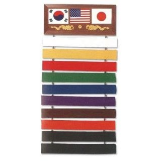 US Flag Taekwondo Karate Kung Fu Martial Arts Black Belt Display