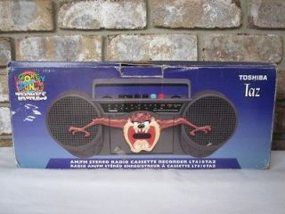 Vintage TAZ AM/FM Radio Cassette Tape Player/Recorder Boombox by