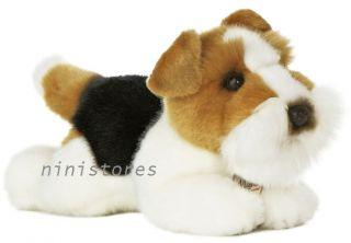 New AURORA MIYONI Stuffed Plush Toy FOX TERRIER Soft Puppy Dog