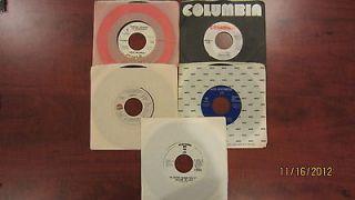 Lot of 5 45 rpm DJ/Promo Austin Olivia Chris Rea Anne Murray VG++ Orig