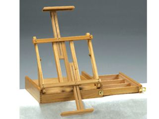 Elm Wood Table Top Art Artist Easel w/ Side Drawer  Painting Small