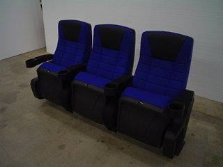 THEATER CHAIRS HOME THEATRE CHAIR MOVIE SEATS CINEMA BLUE FABRIC