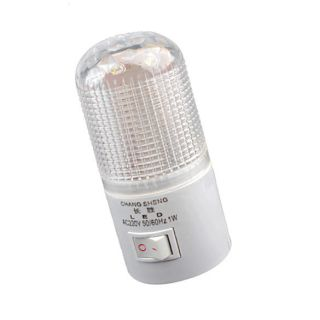Bright Warm White Light Energy Saving Wall Plug in 6 LED Night Light