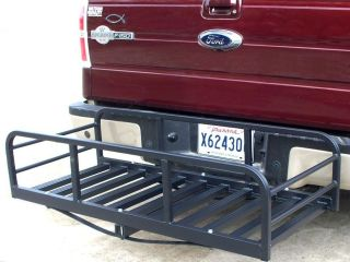 Auto Truck SUV Hitch and Ride Black Cargo Carrier Rack Large Magnum