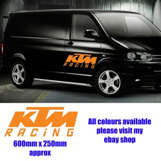 LARGE KTM RACING MX MOTOCROSS VAN car/ stickers/decals window VINYL