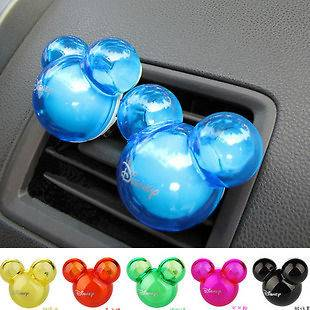 2x Mickey Mouse Air Freshener Perfume Diffuser for Auto Car