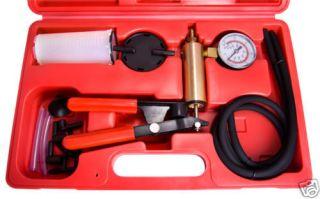 CAR AUTO HAND POWER BRAKE LINE BLEEDER BLEEDING PRESSURE VACUUM PUMP