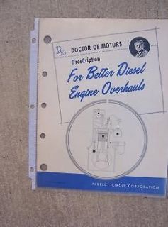 1961 Perfect Circle Piston Ring Doctor of Motors Manual Diesel Engine