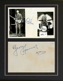 Repro Autographs of Paul McCartney and George Harrison the Beatles