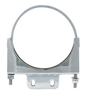 Peterbilt 6 Chrome Exhaust Clamp Fits w/ 1½ x ⅜ Plate