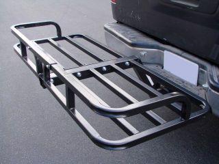 STEEL CARGO CARRIER LUGGAGE BASKET RECEIVER HITCH MOUNT HAULER CAR SUV