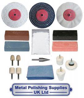 Brass Steel Metal Polishing Kit 17pc By PolishKing 4 x 1/2 GPKA 4001