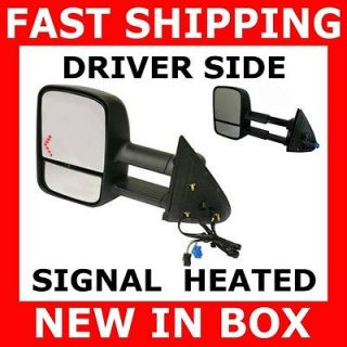 GMC Truck Towing Power Heated Signal Side View Mirror Driver Left LH