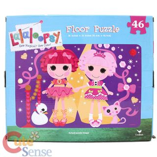 Lalaloopsy Floor Puzzle 36in x24in Jigsaw Floor Mat Puzzles 46pc