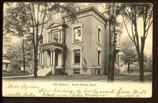 Grand Rapids Michigan City Museum Postcard 1906