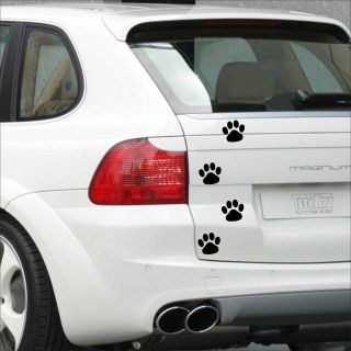 75mm (3) Large Cat Dog PAW print decal sticker vinyl car bike laptop
