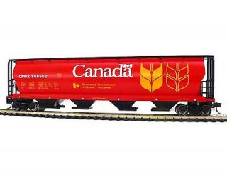 HO SCALE MODEL RAILROAD TRAINS LAYOUT BACHMANN CANADA GRAIN HOPPER