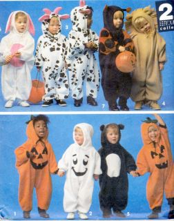 Toddlers ANIMAL Romper Bunny Cow Costumes PATTERNS