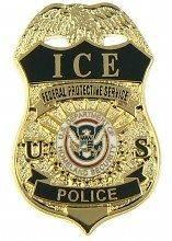 ICE Federal Protective Service Police Mini Badge Lapel Pin