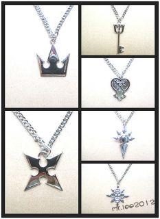 Wholesale Kingdom Hearts Sora Crown Keyblade Roxas Cross Necklace