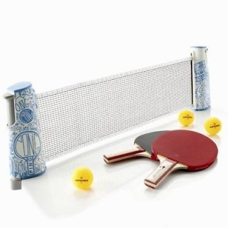 Artengo Free Table Tennis Ping Pong Net,Paddles,Ba​lls (Rollnet set)