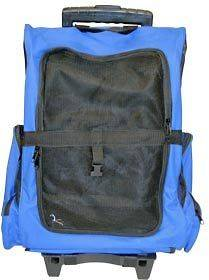 AIRLINE DOG BACKPACK ROLLING PET CARRIER LUGGAGE (CL WPC BLUE)