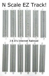 SCALE MODEL RAILROAD TRAINS LAYOUT BACHMANN EZ TRACK LOT OF 12 5