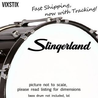 Slingerland drums 10 X 2.25 Black logo sticker decal for bass drum