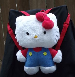 HELLO KITTY Plush Backpack NEW