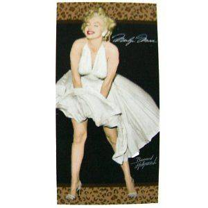Marilyn Monroe Towel   Leopard Beach / Bath Towel 30x60