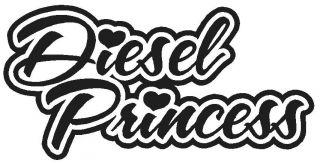 Diesel Princess * Vinyl Decal Sticker * Truck Smoke Powerstroke