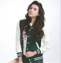 baseball jacket Green letterman uniform coat Korea high quality men