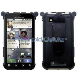 Black Holster Case Belt Clip for Motorola Defy / MB525