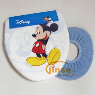 2pc Disney Mickey Mouse Bathroom Shower Toilet lid Cover Set