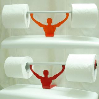 Funny Bathroom Toilet Paper Tissue Roll Holder Strong Man Weightlifter