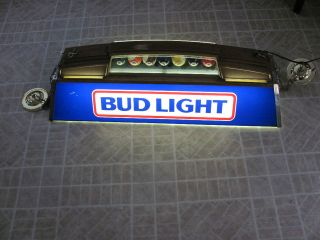 Budweiser Bud Light Beer Bar Pool Table Light Sign WORKING GREAT