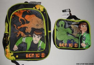 BEN 10 ALIEN FORCE School Bag BACKPACK or LUNCH BOX Tote Pouch Cooler