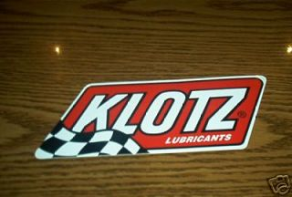 KLOTZ LUBRICANTS MOTOCROSS STICKER DECAL