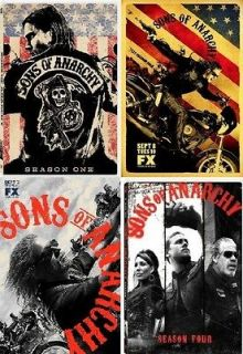 Sons of Anarchy 1 4 The Complete DVD Set Seasons 1 2 3 4