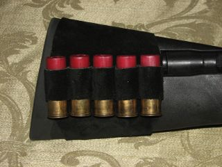 BUTT CUFF HUNTING BULLET SUEDE LEATHER ROUND HOLDER REMINGTON BENELLI