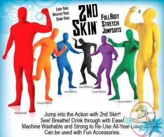 2nd Skin Full Body Suit Second Stretch Red purple black blue green